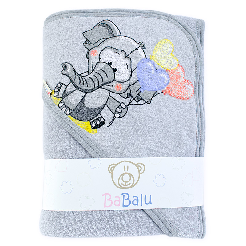 Bath towel 038 with a dedication grey 100x100