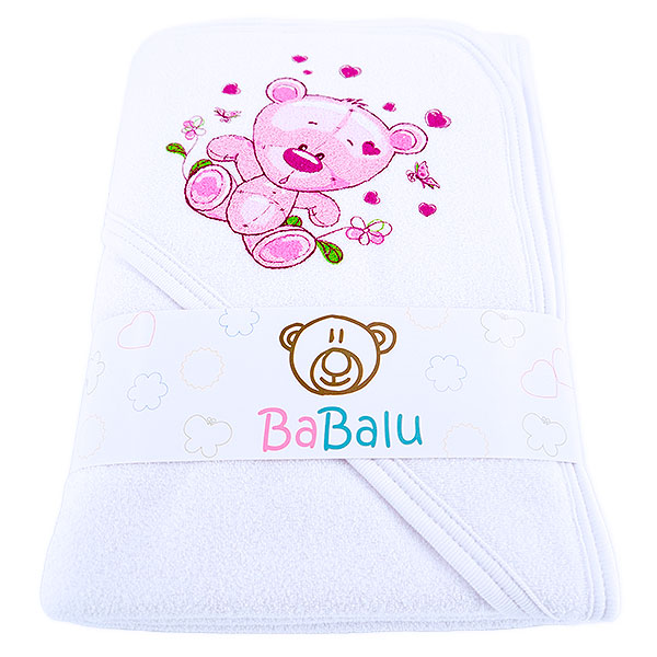 Thick 2-layer bath towel 100x100 white 038