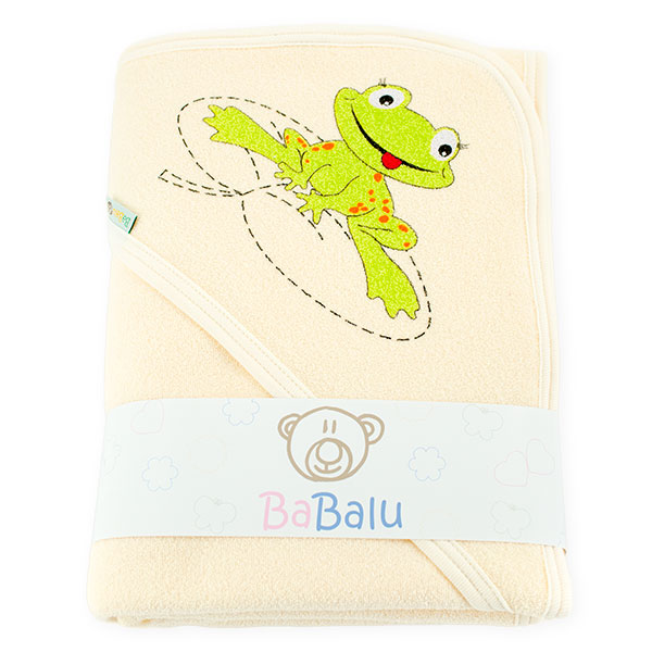 Thick 2-layer bath towel 100x100 ecru 038