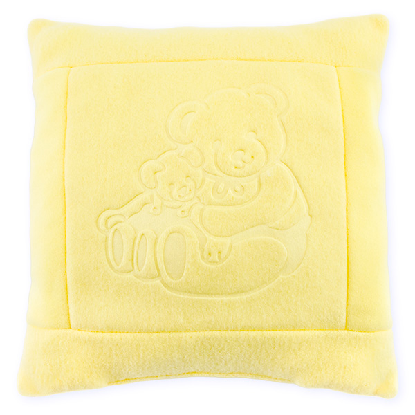 Fleece pillow 08 yellow