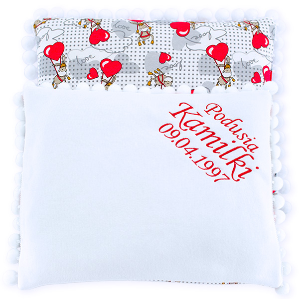 Cotton pillow with dedication 075 Sophie donkey 28x34