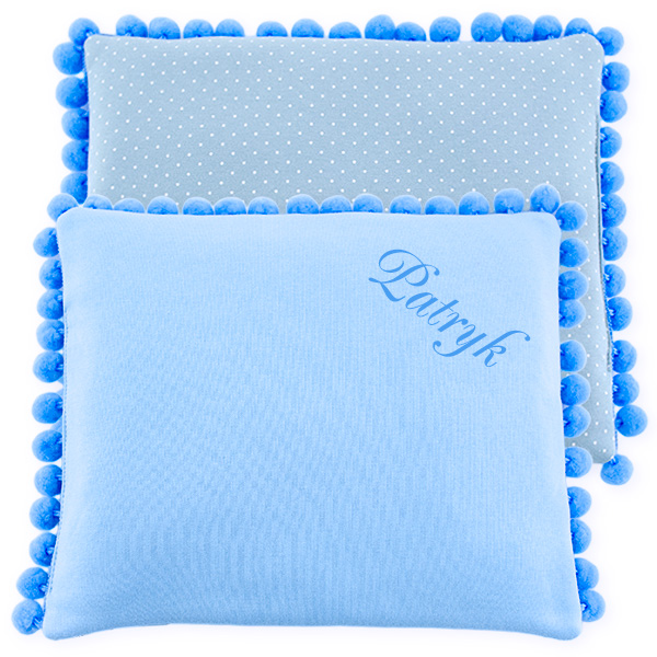 Cotton pillow with dedication 075 Sophie dots 28x34