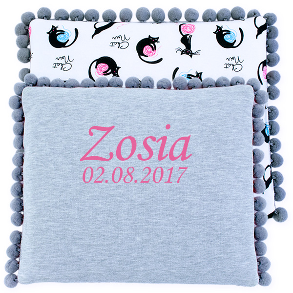 Cotton pillow with dedication 075 Sophie kitten 28x34