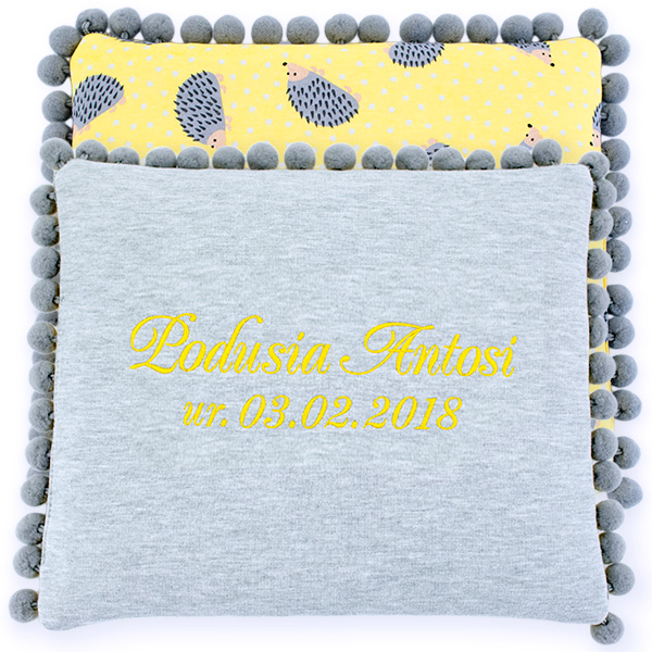 Cotton pillow with dedication 075 Sophie hedgehog 28x34