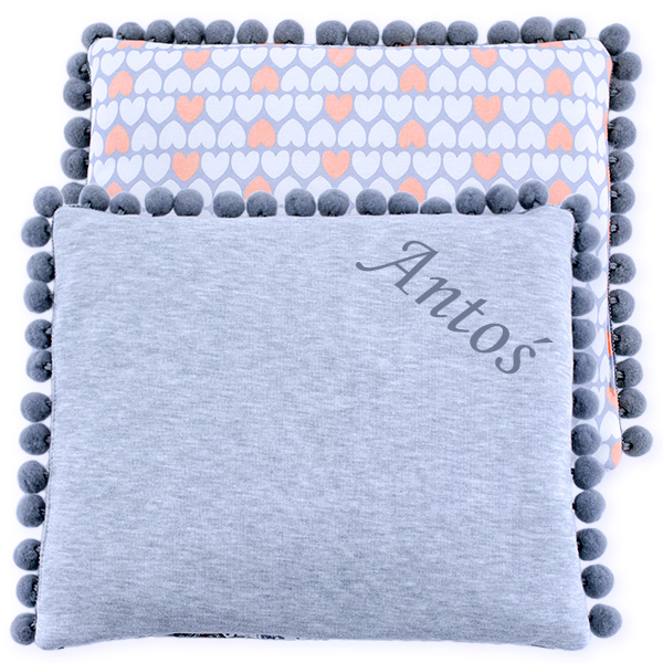 Cotton pillow with dedication 075 Sophie hearts 28x34