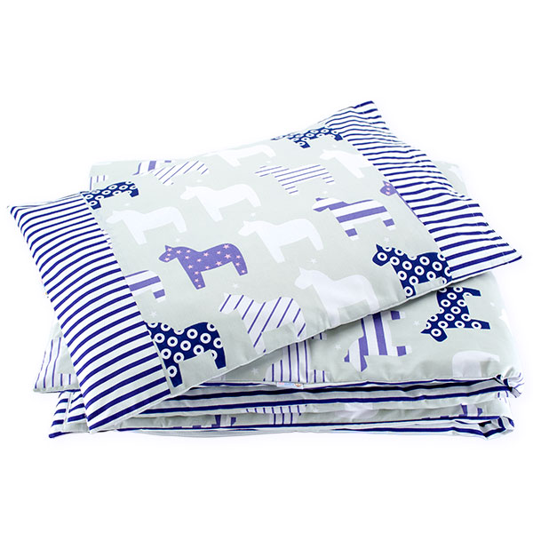 BaBalu double layer bedding set 100/120 2-el. horses