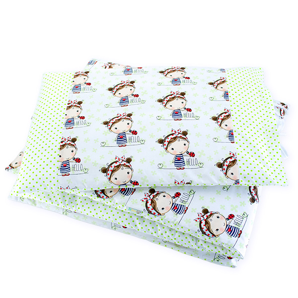BaBalu double layer bedding set 100/120 2-el. ladybug girl