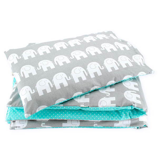 BaBalu double layer bedding set 100/120 2-el. elephants