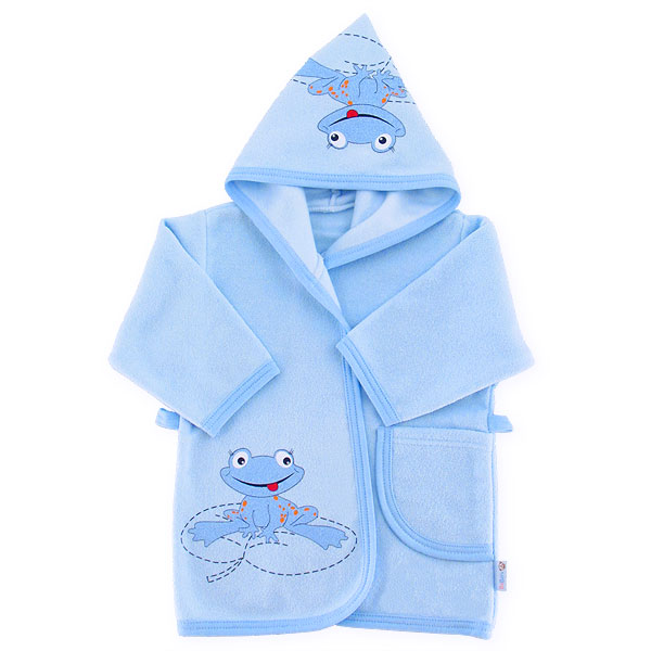 Bathrobe frog 86-92cm blue 042